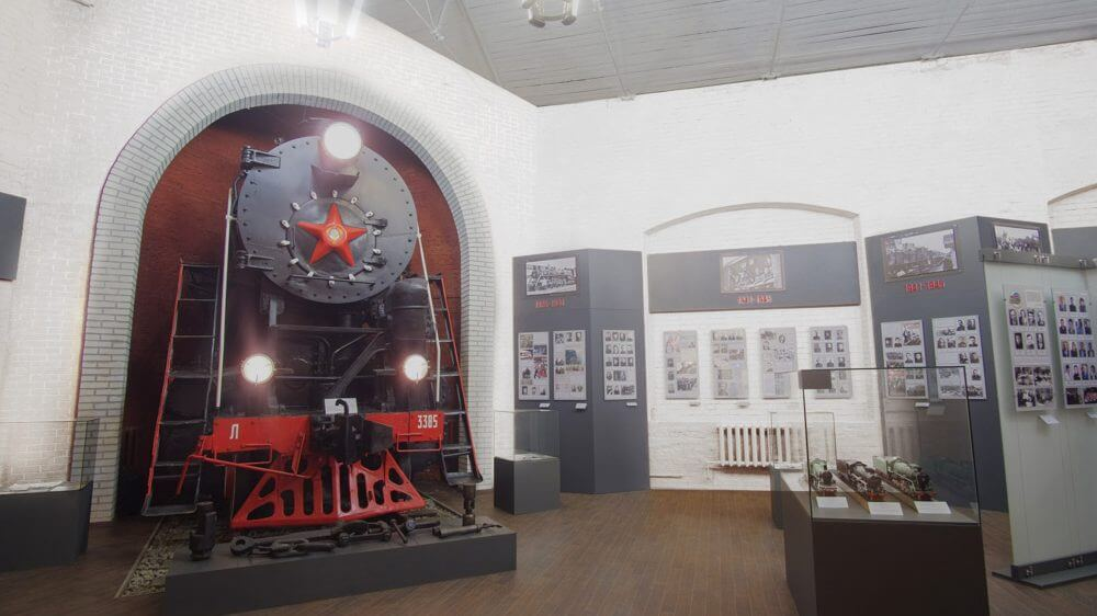 Музейная экспозиция РЖД г. Курск