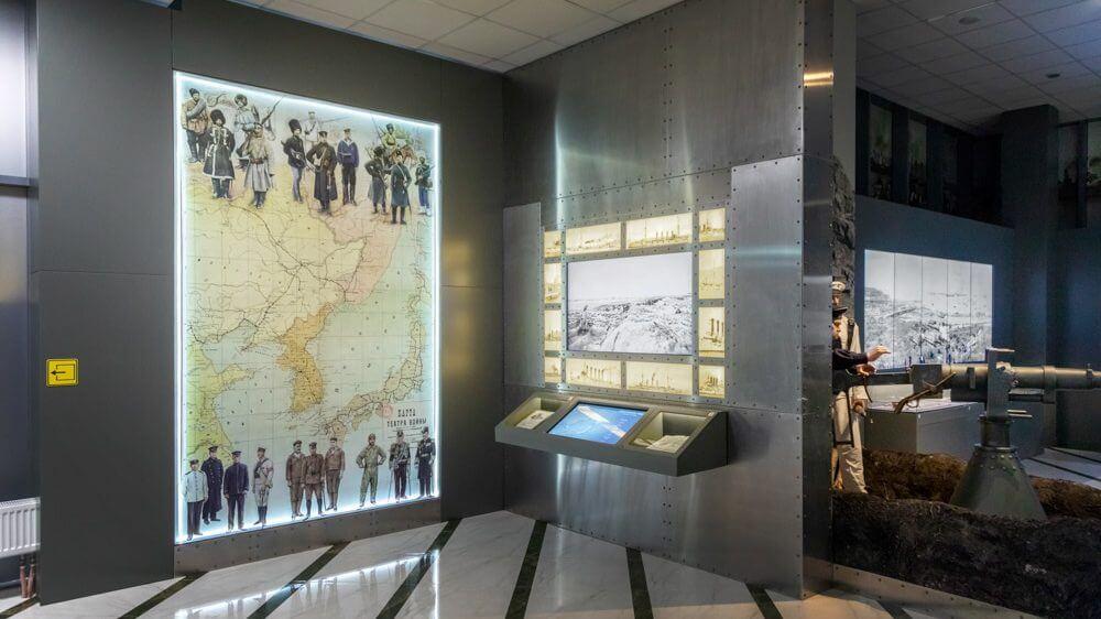 Экспозиция в ММК «Победа». Русско-японская война