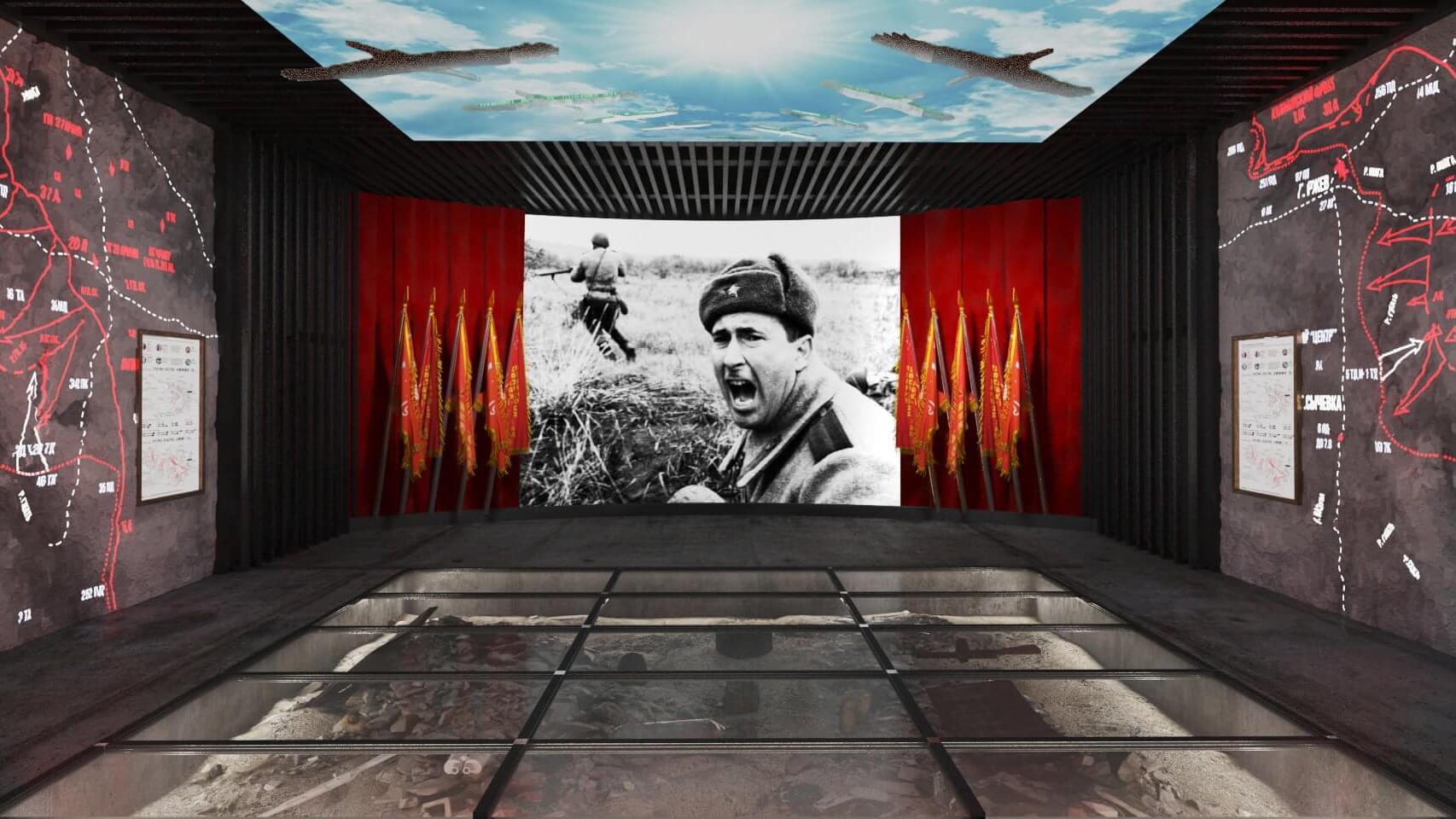 Экспозиция музея в Ржевском мемориале Советскому солдату